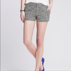 NWT Banana Republic Jacquard Tribal Woven Shorts